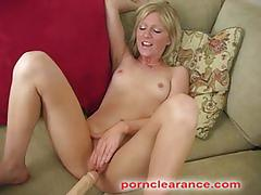 Sexy blonde babe alexa gets screwed with a drilldo