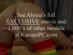 Alyssa daniels fingers her pussy deep