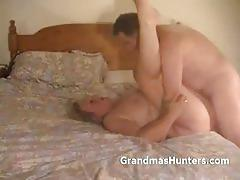 Chubby blonde mature gets banged deep and hard