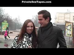 Horny couple ann and slava enjoyed outdoor sex