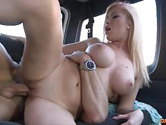 Busty blonde donna bell gets pounded in a van