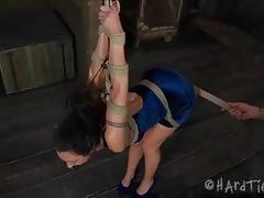 brunette, babe, bdsm, bondage, big ass, slave, beauty, black hair, humiliation, round ass, painful, glamour