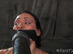 Wenona gets her nipples stretched in the dungeon