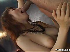 Kaede kyomoto suck a fat dick and swallows cum