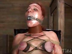 Redhead maggie mead gets hard bondage treatment