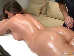 Hot brunette alison tyler gets massaged and fucked