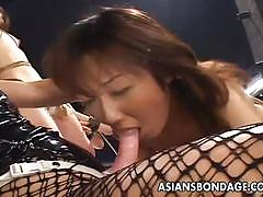 Asian bdsm lesbian orgy gets out of control