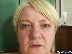 Catching mother-in-law jerking off and banging her