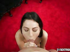 Meg magic gives pov blowjob