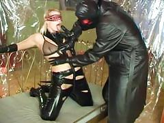 Enchanting blonde slut martina in nasty latex fetish fun with jorg
