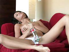 Teen annie bottle masturbation