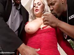 Klaudia kelly double penetrated by two black men