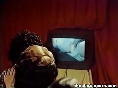 Vintage asian slut rides her man's hard cock