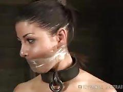 Mia gold gagged with metal devices by cyd black