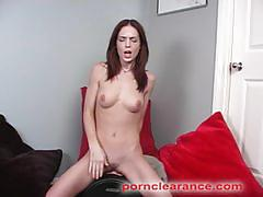 Riley shy cum while riding the sybian