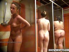 Hot ass slut caught on hidden cam taking shower.