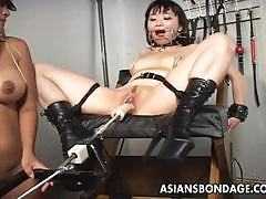 brunette, asian, bdsm, lesbian, toys, slave, vibrator, mistress, japanese, black hair, humiliation, femdom