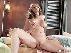Busty blonde milf julia ann rides a hard cock