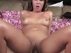 Hot ella milano rides big cock