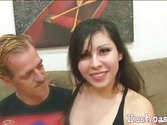 Shiloh sin sucks a hard rod of meat