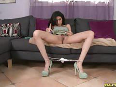 Skinny angel del rey fucked hard