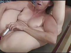 blonde, masturbation, toys, dildo, solo, vibrator, naked, mature, amateur, granny, reality, masturbating
