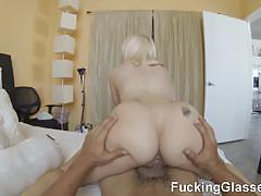 Horny blonde slut gets banged pov style
