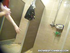 Hot milf caught on hidden cam at showerspycameras