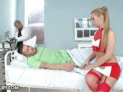 Bibi noel is a sexy blonde nurse