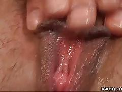 Horny asian brunette aya inazawa fingers her cunt