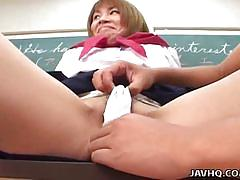 brunette, girlfriend, schoolgirl, japanese, uniform, ex-girlfriend, hairy pussy