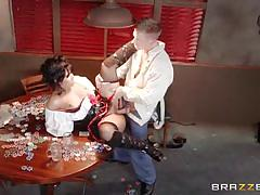 Rose monroe bangs in the bar