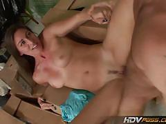 Brunette bombshell rilynn rae gets banged hard