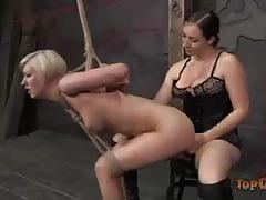 Cherry torn gets tortured by the evil sister dee