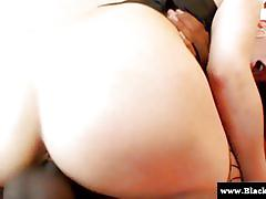 Nikki daniels rides a black cock with her firm ass