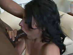 Danica sucks and gets fucked by a black stud