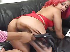 Pretty ebony lesbian sluts strapon fuck