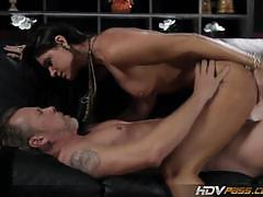 India summer's spoon style couch fuck