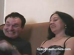 Granny wet pussy fingered while being hypnotized