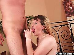 Busty blonde milf gets banged deep and hard