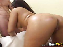 Marquetta jewel sucks cock and gets dildoed