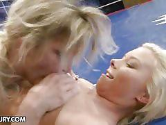 Lisa and kelly cat lesbian wrestling