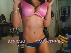 Smoking hot babe ferrari teases on webcam