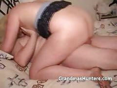 Bbw grandma loves threesomes