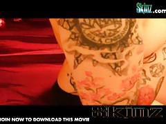 Skinz presents brunette leila and her inked body