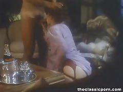 Vintage babe takes a big cock from behind