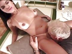 brunette, big dick, big tits, busty, pussy, huge cock, shaved pussy, big boobs, huge tits, black hair, old man