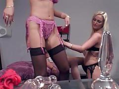 Sizzling lesbian threesome fun in free movie