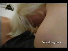 Busty blonde milf maya devine gives a blowjob