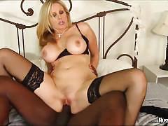 Julia ann riding huge black cock